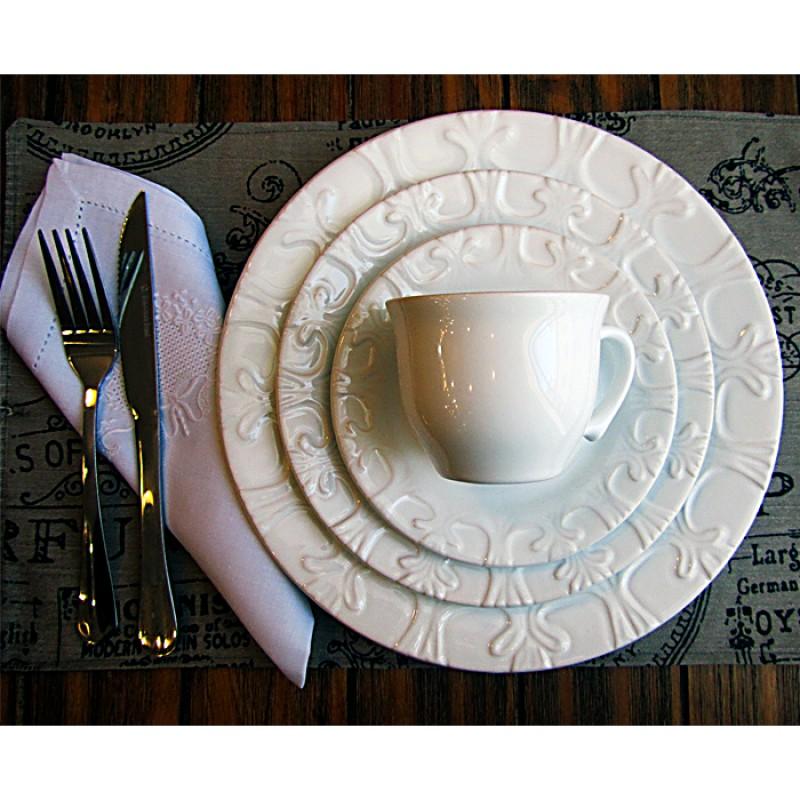 Aparelho de jantar branco 20 peças