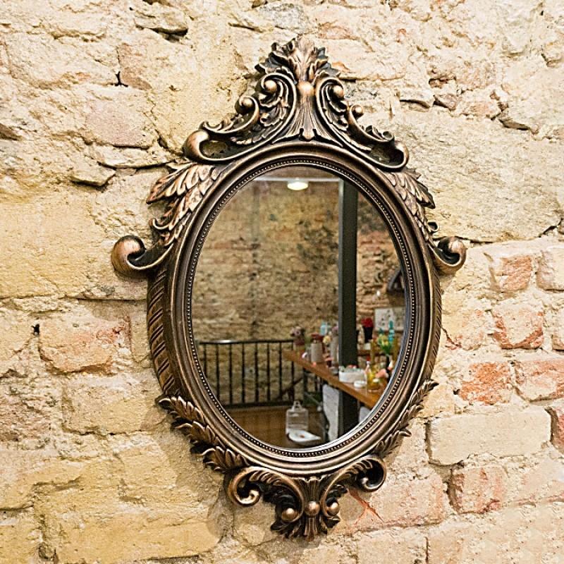 Espelho oval bronze 72x52
