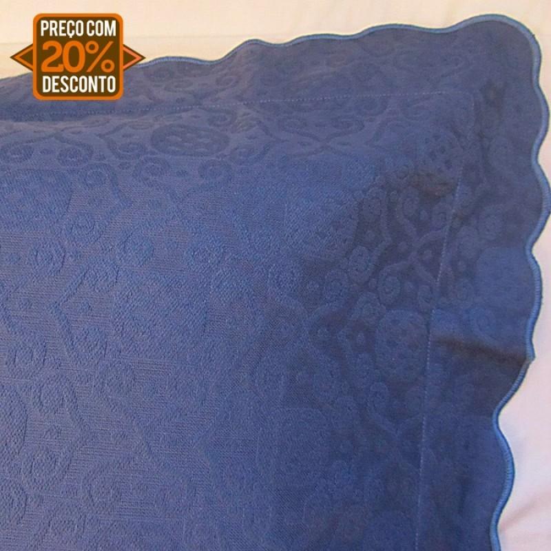 Colcha piquet tognato azul indigo queen
