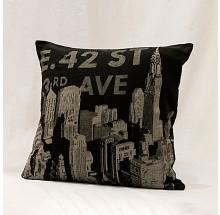 Capa para almofada - Estampa preta AVE 45x45cm