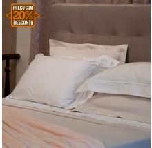 Jogo de cama clássico branco solteiro