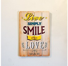 Placa Decorativa - live simply smile often love much 40x60cm