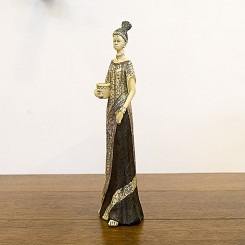 Escultura africana jarro na cintura
