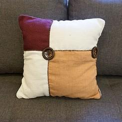 Almofada artesanal linho - Estampa clara 45x45cm