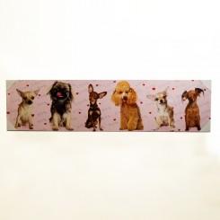 Quadro Decorativo - Cachorros 2 30x120cm