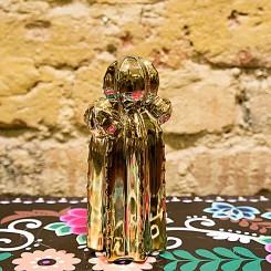 Escultura cacto dourado