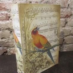 Caixa Decorativa  Pássaro Musical - De 119,90 por