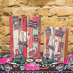 Caixa  decoração livro Inglaterra kit com 2