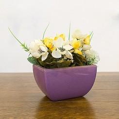 Vaso cachepô roxo
