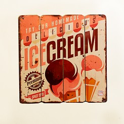 Placa Decorativa - IceCream 40x40cm
