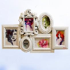 Porta Retrato 6 Fotos - Branco 42x63cm