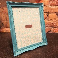Porta Retrato de Plástico Azul Turquesa - Grande