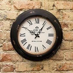 Relógio de parede France acabamento envelhecido