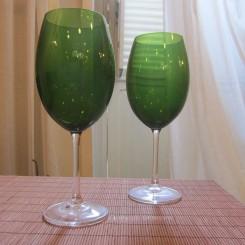 Conjunto 6 Taças Bohemia verde