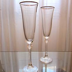 Conjunto 6 Taças Bohemia Champagne Cristal Ecológico