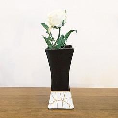 Vaso cerâmica craquelado pequeno