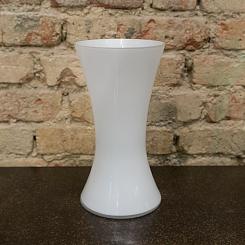 Vaso vidro branco 15,5 cm x 15,5 cm x 30cm