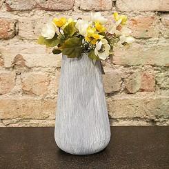 Vaso cinza 15 cm x 15 cm x 26 cm