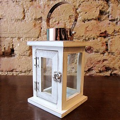 Lanterna Madeira e Metal pequena